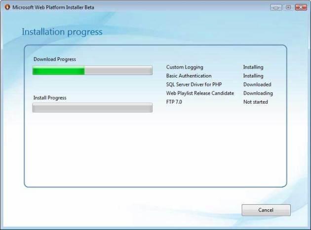 مر�له چهارم - دانلود خودبخود گزینههای انتخابی از اینترنت توسط خود برنامه و نصب آنها بر روی سیستم
