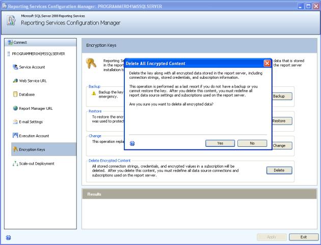 دیالوگ باکس تایید عملیات واک کردن بخش های رمز شده