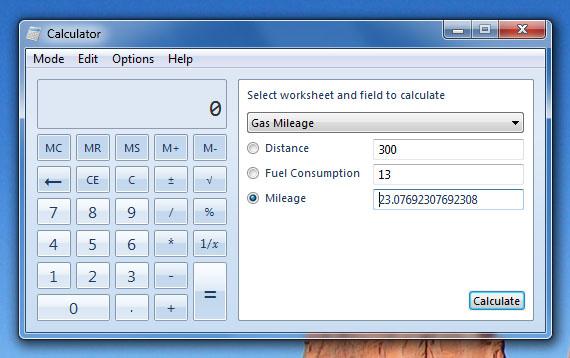 قالب های اضافی ماشین خساب ویندوز ۷