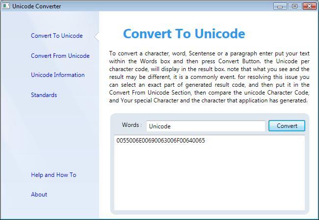 Unicode Converter - Convert To Unicode Section
