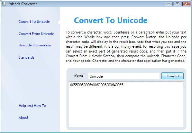 Unicode Converter - Convert To Unicode Section