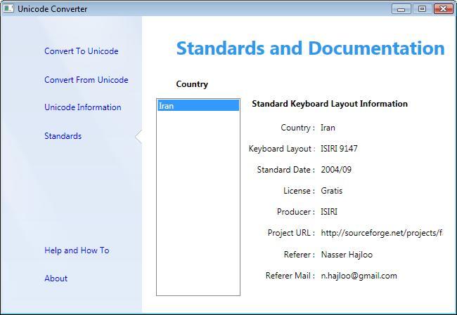 Unicode Converter - Keyboard Layout Section